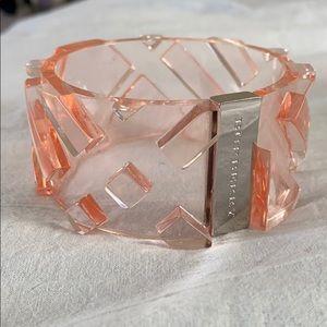 Rare! Pink Burberry Lucite Cuff Bracelet.